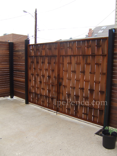 Metal And Wood Fence